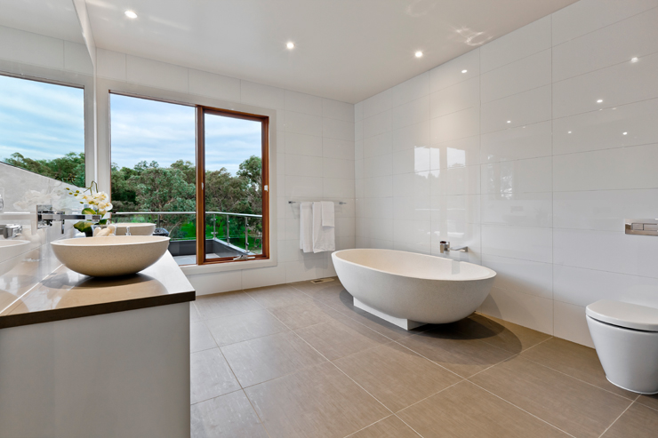 Modern Bathroom With Bath Joe 39 S Construction Home Design Construction Quality Builders